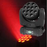 رأس تحريك مصباح LED Stage Beam Light Beam (إضاءة الضوء) بقوة 12*10 واط CREE 4n1