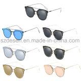 2017 lunettes de soleil en métal d'arrivée le plus neuf de vente en gros d'antiquité de Len de miroir