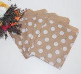 Sacs en papier métalliques de sucrerie de faveur d'usager de POINT de polka