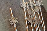 Paglie di carta di Rosegold del fiocco di neve di Onederland di inverno