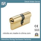 cilindro de cobre amarillo de la cerradura de la alta calidad de 60m m de la cerradura de puerta Rxc03