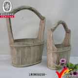 Venda por atacado Antique Antique Look Rope Handle Flower Bucket