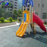 Plancher en caoutchouc extérieur coloré de cour de jeu