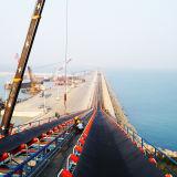 Большие ленточный транспортер наклонения/система транспортера для морского порта/гавани
