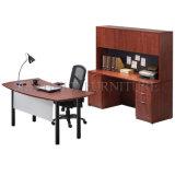 Bureau de bureau en bois Bureau courbé avec bibliothèque de table latérale (SZ-ODT614)