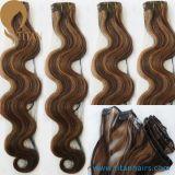 Clip indiana di estensioni dei capelli umani di Remy in capelli