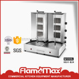 4 quemadores GAS Shawarma Kebab la máquina (HGV-792)