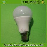 B Base22 12W lâmpada LED com corpo de plástico e alumínio