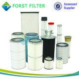 Forst vacío de poliéster de la máquina de arena del filtro de aire cartucho
