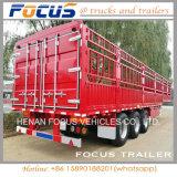 De 3 essieux de pieu remorque de camion semi pour le transport