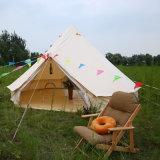 4m wasserdichte Baumwollsegeltuch-Familien-kampierendes Rundzelt mit Ofen-Loch