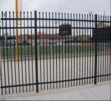 Панель загородки верхней части копья американца 5FT высокорослая/орнаментальная загородка ковки чугуна
