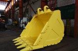 掘削機のバケツ/グラブ1.2cbmの幼虫320cの頑丈なバケツの石のバケツ