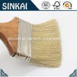 Brosse à cheveux en plastique et poils en bois dur