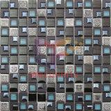 Mezcla de vidrio de mármol gris mosaico de plástico (CSR093)
