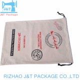 Sacchetto di Drawstring stampato marchio personalizzato del cotone della tela di canapa