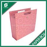 En Papel Rosa elegante bolsa de compras con mango