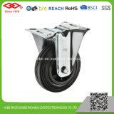 rotella di gomma nera della macchina per colata continua di 80mm (D103-31D080X25)