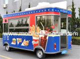 Vrachtwagen/de Kar met 4 wielen van het Voedsel van de goede Kwaliteit de Mobiele