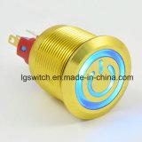 L'alimentation voyant lumineux étanches IP65 Interrupteur à bouton poussoir 16A250VCA