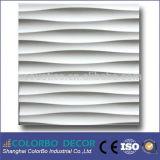 revestimiento de madera de cuero de la decoración de la pared 3D, el panel de pared de cuero del techo 3D