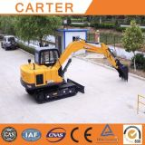 Excavador hidráulico de motor diesel caliente de la correa eslabonada de las ventas CT85 (0.34M3&8.5T)