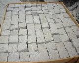 Pflasterung-Stein-Kopfstein Cubestone des natürlicher Riss-grauer Granit-G603