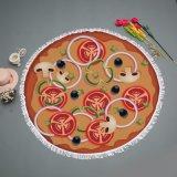 Esteira redonda da praia de Microfiber do projeto da pizza & da filhós