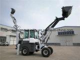 Carregador telescópico do Backhoe da roda da maquinaria de construção Wy22-16 de China para a venda