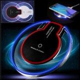 証明書多彩なLED夜ライトiPhone XのiPhoneのための速いチーの無線充電器で8 Samsungは8つの無線電信の充電器のパッドに注意する