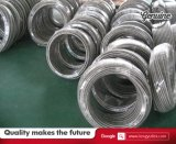 3 mangueira de Teflon do metal flexível de aço inoxidável 316 da polegada