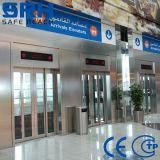 Aço inoxidável decoração do carro elevador de passageiro