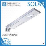Tutti in uno integrano l'indicatore luminoso di via solare del LED 10W-50W