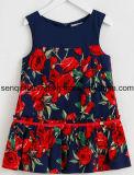 Fashion Girl Frock Dress in Children Vestuário com roupa de vestir