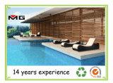 Exterior Rattan chaise lounges acogedora piscina Tumbonas Armless