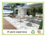 Модный ресторан открытый дворик устанавливает металлические сад в таблице