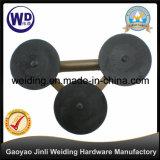 Três copos do tirante de vidro de aço Wt-3803 dos copos da sução/sução