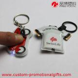 LED Lightとの電池のClothes Shape PVC Souvenir Keychain