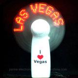 Охлаждающий вентилятор бесплатной раздачи портативный СИД лета проблескивая с логосом напечатал (3509)