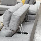 調節可能な角ファブリックソファーはホーム家具のためにセットした