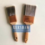 Pinceau (pinceau, brosse plate conique de filament avec la poignée en bois dure)