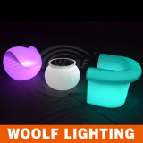 Couleur rechargeable LED Outdoor Furniter LED Sofa