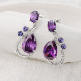 紫色の立方ジルコニアの方法宝石類のアクセサリのネックレスの一定の工場