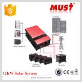 Inversor 12kw solar de baixa frequência da corrente de carga da obrigação 100AMP