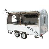 De vierkante Mobiele Ontwerper van de Vrachtwagens van het Voedsel van de Kiosk van de Wafel voor Verkoop