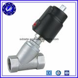 Dn15 to 65 Male Threaded Solenoid Valve Pneumatic Angle Piston Seat Valve