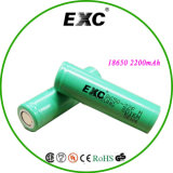 China Made Rechargeable Li Ion Battery 18650 3.7V 2200mAh für Toy, Small Home Appliance