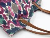Katoenen van de douane Canvas Dame Bag met het Handvat van Pu
