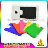 Auto-adesivo ultrafino de Silicone Luva de cartão de crédito para telefones inteligentes