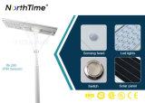 Lámpara solar integrada al aire libre del jardín de la calle del LED con la batería de litio